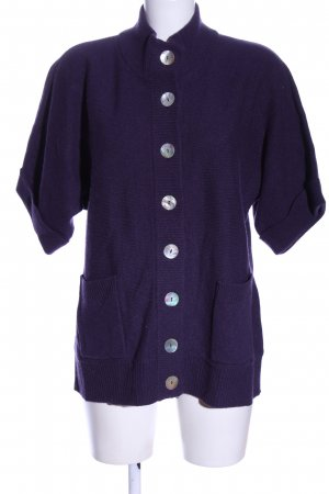 Madeleine Short Sleeve Knitted Jacket lilac casual look