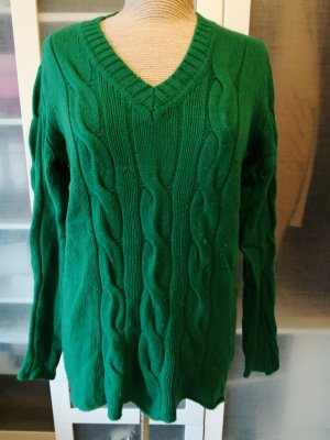 Madeleine Cable Sweater petrol wool