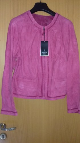 Madeleine Leather Jacket neon pink leather