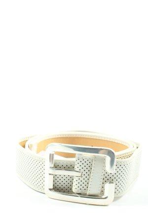 Madeleine Cinturón de cuero blanco puro-crema look casual