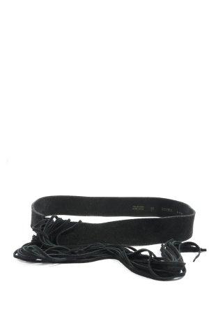 Madeleine Cinturón de cuero negro look casual