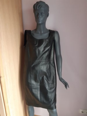 Madeleine Leather Dress black leather