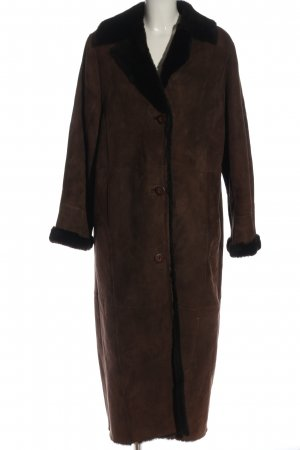 Madeleine Leather Coat brown casual look