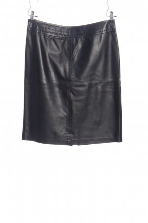 Madeleine Leather Skirt black casual look