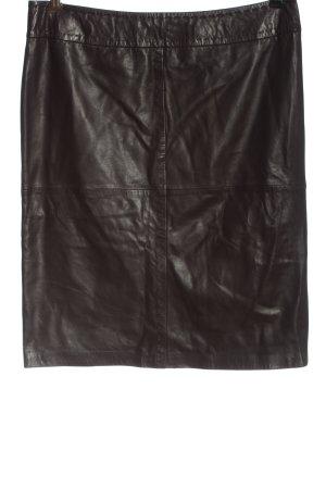 Madeleine Skórzana spódnica brązowy W stylu casual