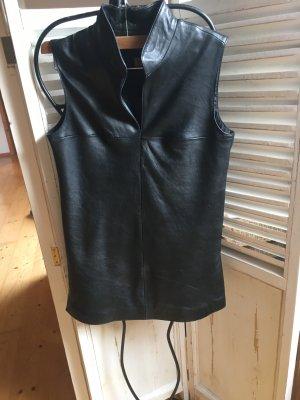 Madeleine Skórzana bluzka czarny