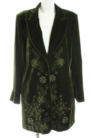 Madeleine Long-Blazer grün Blumenmuster Elegant