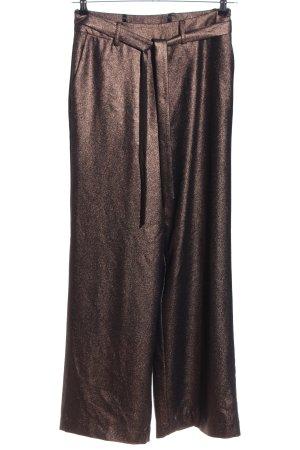 Madeleine Marlenehose bronzefarben meliert extravaganter Stil