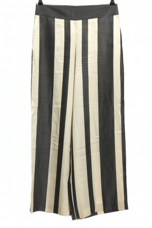 Madeleine Marlene Trousers black-natural white striped pattern casual look