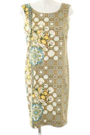 Madeleine Midikleid creme abstraktes Muster Elegant
