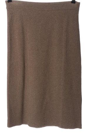 Madeleine Spódnica midi brązowy Wzór w paski W stylu casual