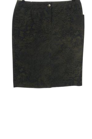 Madeleine Spódnica midi khaki Zwierzęcy wzór W stylu biznesowym
