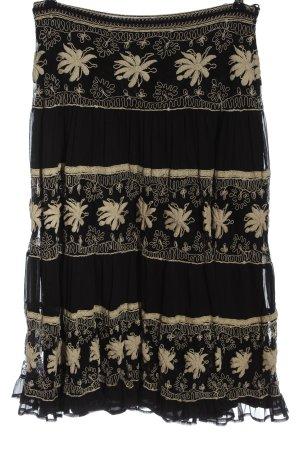 Madeleine Spódnica midi czarny-kremowy Wzór w kwiaty W stylu casual