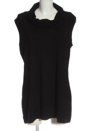 Madeleine Długi top czarny W stylu casual