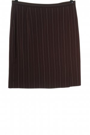 Madeleine Mini rok bruin gestreept patroon casual uitstraling