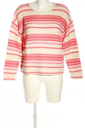 Madeleine Oversized Pullover creme-rot Mustermix Casual-Look