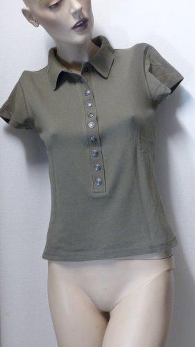 Madeleine Koszulka polo szaro-brązowy-zielono-szary Bawełna