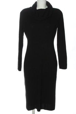Madeleine Vestido tipo jersey negro look casual