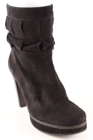 Madeleine Reißverschluss-Stiefeletten schwarz Elegant