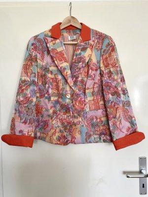 Madeleine Retro Blazer Jacke Blumen Paisley Größe 44 XL