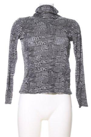 Madeleine Turtleneck Shirt black-white mixed pattern casual look
