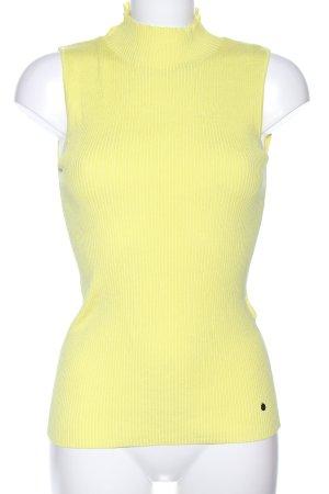 Madeleine Top con colletto arrotolato giallo pallido stile casual