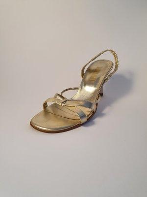 Madeleine Sandaletten in glänzend gold Gr. 36