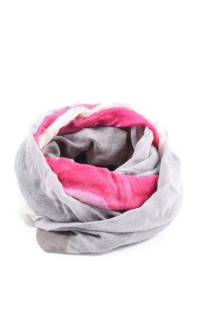 Madeleine Écharpe tube gris clair-rose style décontracté