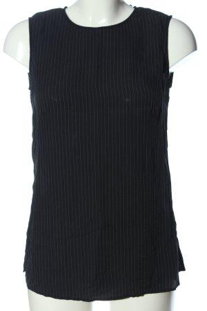 Madeleine Camicetta da notte nero-bianco sporco motivo a righe stile casual
