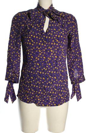 Madeleine Bluzka z kokardą fiolet-bladożółty Na całej powierzchni