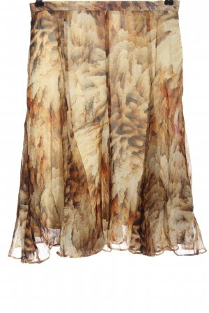 Madeleine Falda de seda crema-marrón look casual