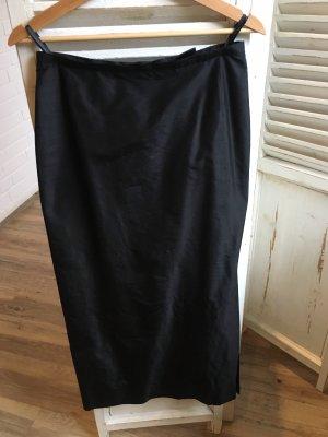 Madeleine Seidenrock Wildseide schwarz Gr 38
