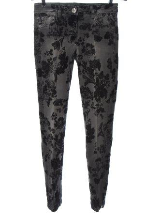 Madeleine Slim Jeans light grey-black allover print casual look