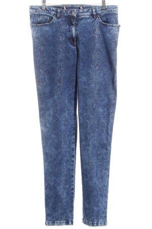 Madeleine Slim Jeans blau-silberfarben Casual-Look