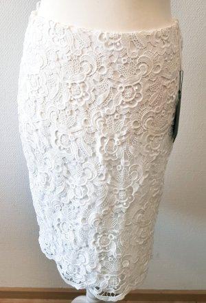 Madeleine Falda de encaje blanco