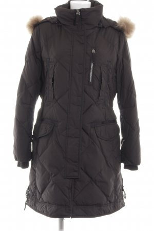 Madeleine Quilted Coat black quilting pattern street-fashion look