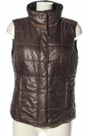 Madeleine Gilet matelassé brun motif de courtepointe style décontracté