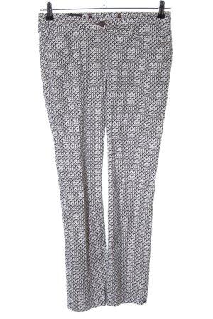 Madeleine Stoffhose schwarzbraun-weiß abstraktes Muster Casual-Look