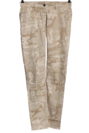 Madeleine Jeansy z prostymi nogawkami kremowy Wzór moro W stylu casual
