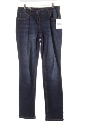 Madeleine Jeansy z prostymi nogawkami niebieski Styl klasyczny