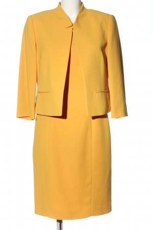 Madeleine Ensemble en tricot jaune primevère style d'affaires