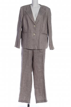 Madeleine Strick Twin Set pink-hellgrau meliert Business-Look