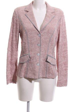 Madeleine Sweatblazer pink-hellgrau Allover-Druck Business-Look