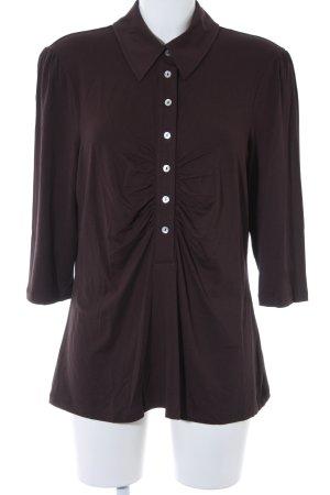 Madeleine Sweatshirt dunkelbraun schlichter Stil