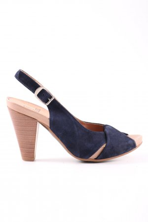 Madeleine Slingback-Pumps blau Casual-Look