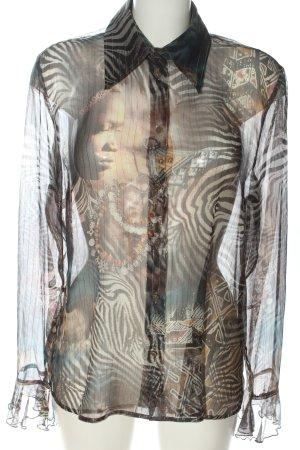 Madeleine Transparenz-Bluse Allover-Druck extravaganter Stil