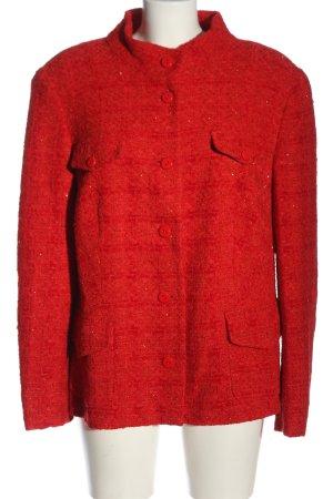 Madeleine Tweed Blazer red allover print business style