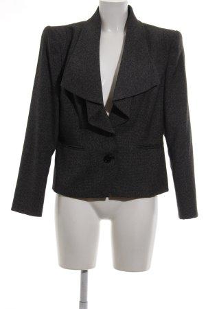 Madeleine Blazer en tweed noir moucheté style d'affaires