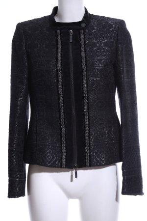 Madeleine Übergangsjacke schwarz-silberfarben Elegant