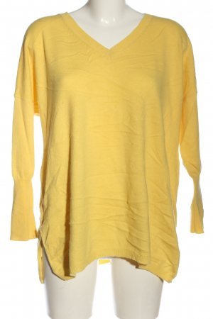 Madeleine V-Ausschnitt-Pullover blassgelb Casual-Look